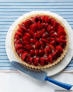 strawberry tart - cream cheese filling