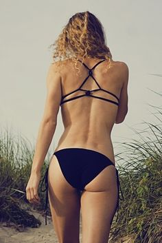 Knot-Back Bikini Obsidian by Cala Ossidiana