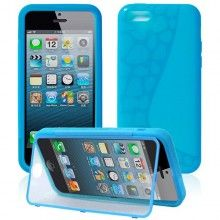 Funda iPhone 5C - Gel con Soporte Azul  AR$ 54,23
