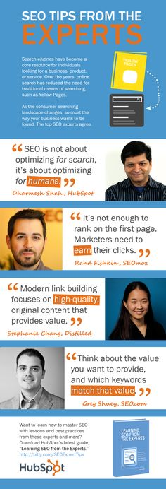 SEO tips from experts #infographic