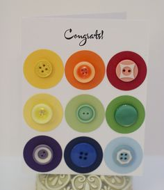 buttons on greeting card