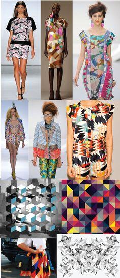 geometric print trend designer ss13