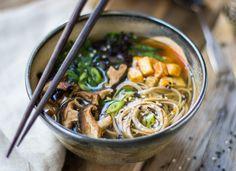 soba noodles, noodl soup