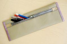 DIY: leather pencil case