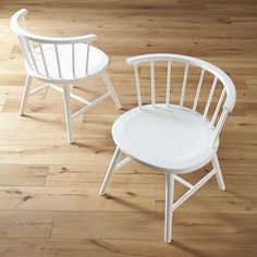 Riviera White Low Windsor Side Chair  | Crate and Barrel