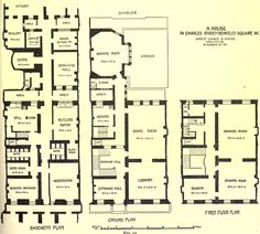 Plan of an Edwardian Town House