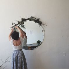 Greenery on a mirror