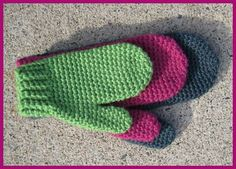 free crochetme pattern for basic mittens and instructions on different sizes