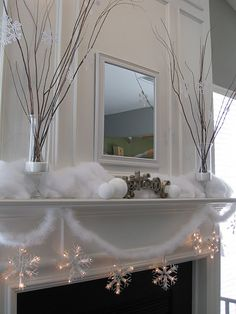 mantel in the winter