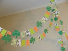 Paper Garland/ St Patricks Day Decorations/ St Patricks Day Garland/ St Pattys Photo Prop/ Classroom Decoration on Etsy, $12.50