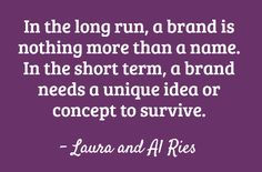 The Law of the Name for brand strategy