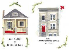 House portraits by Rebekka Seale (via Design*Sponge) #RebekkaSeale #house