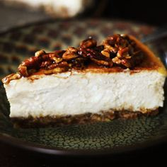 Cinnamon Pecan Cheesecake