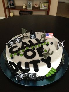 Ghost Call Of Duty Happy Birthday Cake