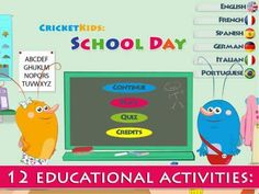 Cricket Kids: School Day - 12 interactive scenes with simple mini-games (e.g. counting, puzzles, repeating sequences, memory etc). Appysmarts score: 86/100 http://www.appysmarts.com/application/cricket-kids-school-day,id_106219.php