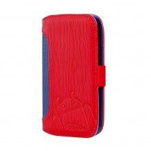 Capa Moto G Cruzerlite - Bugdroid Circuit Intelligent Wallet Red Blue  19,99 €
