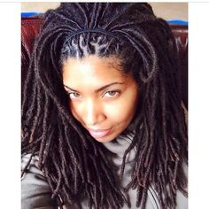 Locs long locs hairstyles, face head, girl revolut, natur hair, cur girl, girls with locs