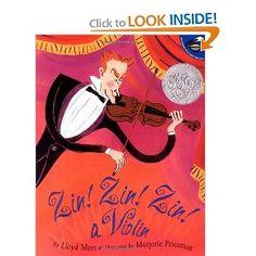Zin! Zin! Zin! A Violin (Aladdin Picture Books): Lloyd Moss, Marjorie Priceman