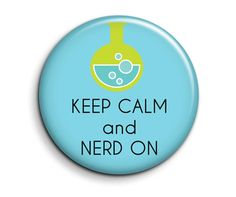 Keep Calm and Nerd On - 2.25 inch Pocket Mirror - Geek Party Favor. $4.00, via Etsy.
