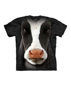Look what I found on #zulily! Black Cow Face Tee - Toddler & Kids #zulilyfinds