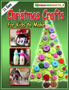FREE e-Book: 11 Easy Christmas Crafts for Kids to Make! #Christmas #crafts