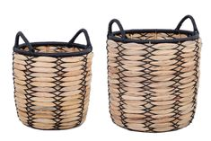 "Free 2-day shipping. Buy Better Homes & Gardens Claren 12"" & 15"" Round Water Hyacinth Basket Planter Set at Walmart.com"