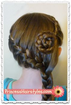 Side Swept French Braid With Flower Video Tutorial
