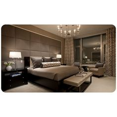 love this masculine bedroom.