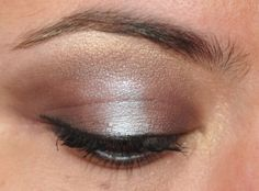 365 Days of Eyeshadow, silver and grey.