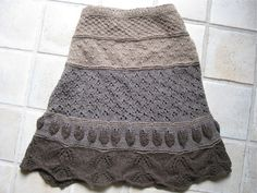 #yarnsinthefarms' Yak Which do you Choose skirt - pattern by Jill Stover.  A pretty, versatile skirt to knit using a variety of stitch motifs!  Skirt Knit  #2dayslook #SkirtKnit #fashion #new  www.2dayslook.com