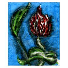 Fire Flower Black Bottom Mambo In The Style Of Bon by Luminosity
