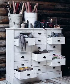 Recycled painted furniture