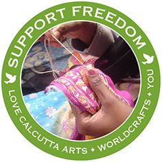 @WorldCrafts Support Freedom Stories  {Love Calcutta Arts ~ India} The scarring influence of the sex trade does not affect just one generation in India. Despairing mothers often leave a legacy of poverty and prostitution to their daughters, who in turn carry on because they know no other lifestyle. #WCartisans #fairtrade #supportfreedom