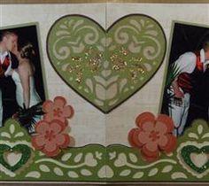 A jungle wedding layout created using Folk Art Festival.