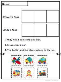 Another cut and paste activity for beginning readers.