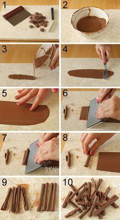 How To Make Chocolate Swirls For Cake Decoration