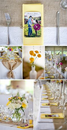 love the burlap look, never would have thought of it until friend used it at  a bridle shower, so cute!