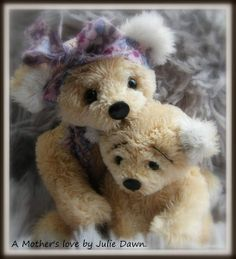 teddi bear, mother, son