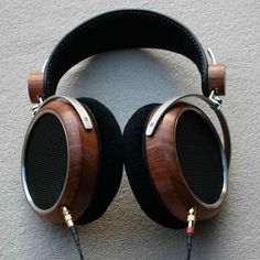Awesome wooden headphones
