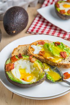 Baked Avocado Bacon and Eggs