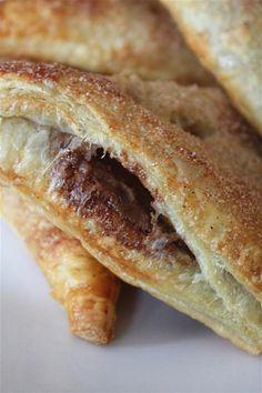 Nutella, PB and Banana Turnovers