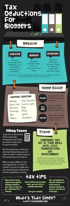 tax deductions for bloggers infographic