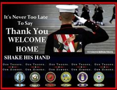 Shake a hand today, and say thank you..