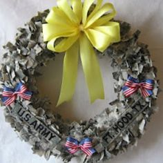 Deployment Wreath (I want to do one of these just only in Navy digital camo.) :)