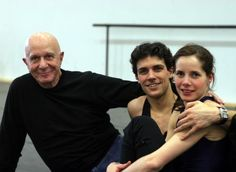 Roberto Bolle with Darcey Bussell and Roland Petit [ph. M. Brescia]