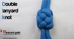 A tutorial on the double lanyard knot.