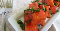 Watermelon Basil Salad with Balsamic