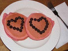 Pink Valentine Pancakes