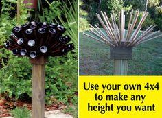 Outdoor Bottle Tree | Beer or Wine Bottle Tree The Bottle Cap | eBay