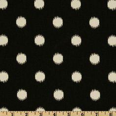 Premier Prints Ikat Dots Onyx/Natural $5.98